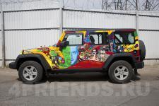 Аэрография Jeep Wrangler AcidArt - рисунок 11