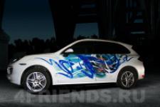 аэрография Porsche Cayenne - аэрография №1