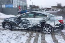 аэрография Mercedes C coupe Абстракция  - фотография 1