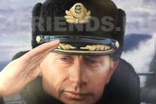 "аэрография Cadillac ""Путин. Карелия""-фото 1"