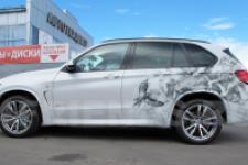 Аэрография BMW X5 Птицы - фото1